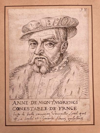 Ecole FRANÇAISE, du XVIIème siècle Portrait d'Anne de Montmorency, (1493-1567) connétable...