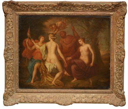 Antoine COYPEL (1661-1722) dans le goût de Le couronnement Toile 49,5 x 62 cm (accidents)...