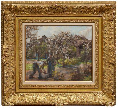 Léon Augustin LHERMITTE (1844-1925) Plantation de pommes de terre Pastel sur papier,...