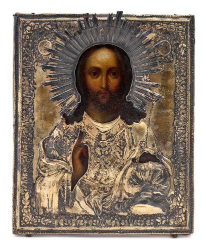 Icône, Russie, XIXe siècle Vierge de Tendresse,...