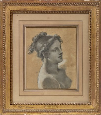 Pierre-Paul PRUD'HON (Cluny 1758 - Paris 1823) Study for the young woman in front...