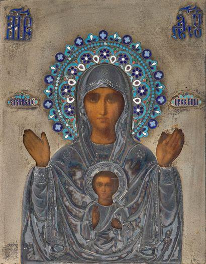 Icône, Russie, XIXe siècle Vierge du Signe...