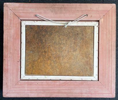 Lucien NEUQUELMAN (1909-1988) Berge Huile sur panneau, signée en bas à droite 26,5...