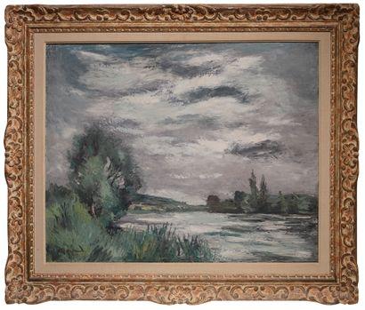 Anders OSTERLIND (1887-1960) Paysage Huile sur toile, signée et datée 1929 en bas...