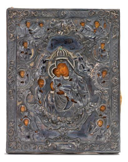 Icône, Russie, XIXe siècle Christ Pantocrator...