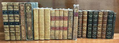 Ensemble livres XIXème reliés dont oeuvres...
