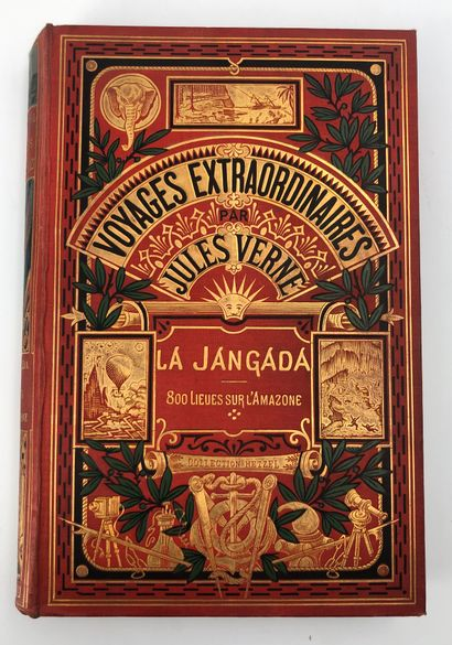 Jules VERNES La Jangada / 800 lieus sur...