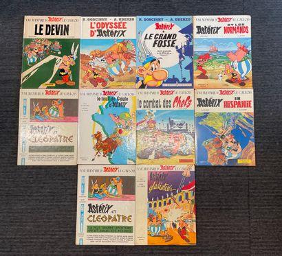 Ensemble dix albums Asterix  Usures, accidents...