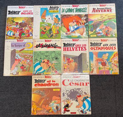 Ensemble de dix albums Asterix dont éditions...