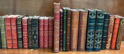 Ensemble de livres XIXe reliés dont Molière...