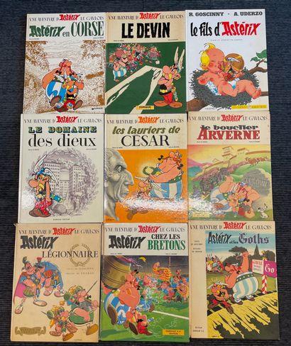 Ensemble de neuf albums Asterix dont éditions...