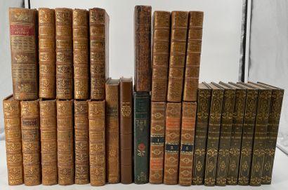 Ensemble de livres reliées XVIIIe et XIXe...