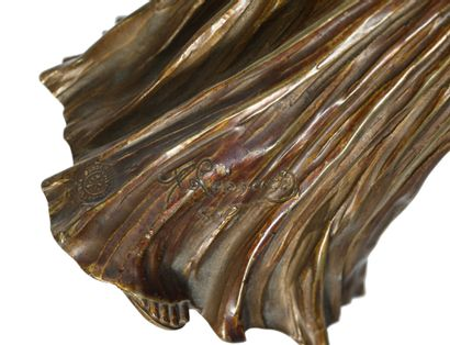 AGATHON LEONARD (1841-1923) Danseuse au tambourin Epreuve en bronze doré Signée «A...