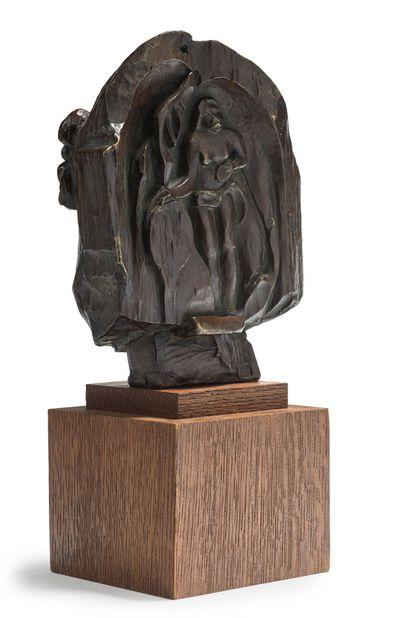 Paul GAUGUIN (1848-1903), d'après Masque de jeune tahitienne «Tehura» au verso et...
