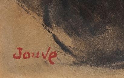 Paul JOUVE (1878-1973) Ours Technique mixte sur papier Signée en bas à droite en...
