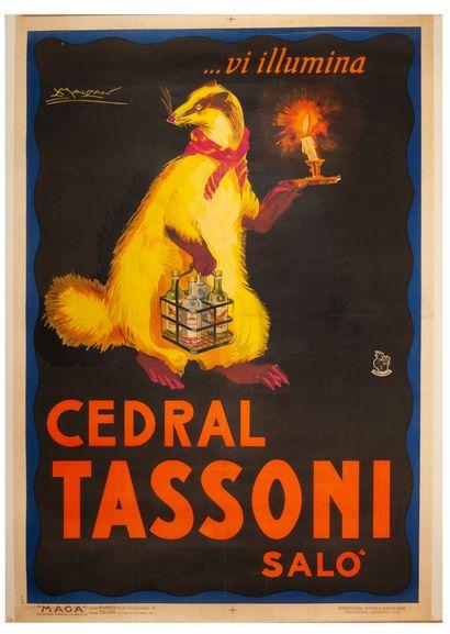 Tassoni Cedral 1922. Affiche lithographique....