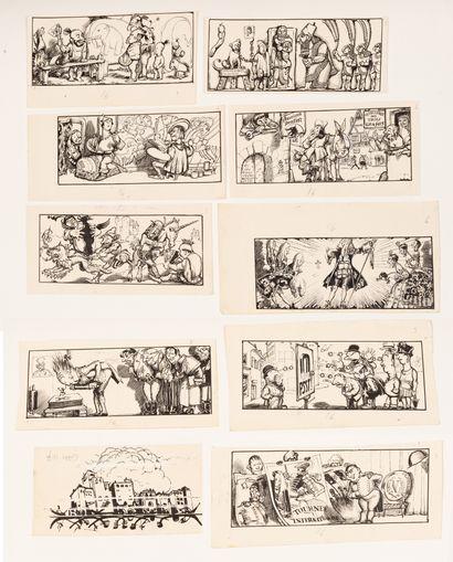 Les origines de l'affiches 9 dessins originaux...