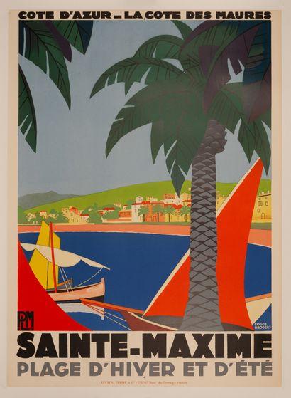 BRODERS ROGER Côte d'Azur. La Côte des Maures. Sainte-Maxime. Plage d'Hiver et d'Eté....
