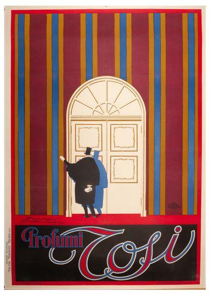 Tosi Profumi Milano 1925. Affiche lithographique....