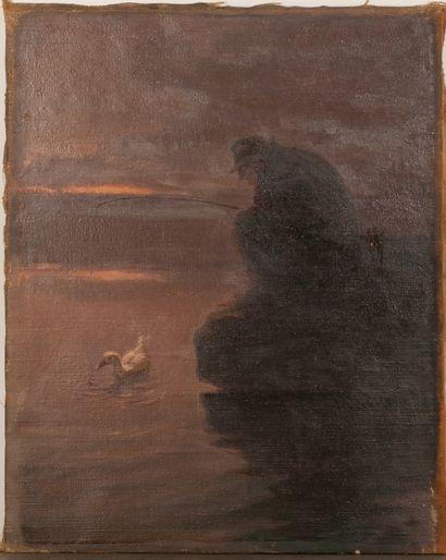 Le pêcheur Gap,1949-1951. Huile sur toile...