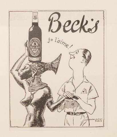 Beck's Je l'aime ! Circa 1939. Projet au...