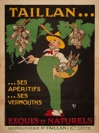 MICH (Jean Marie Michel LIEBEAUX dit) Taillan... Ses apéritifs... Ses vermouths....
