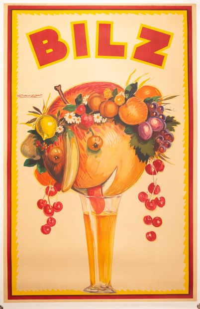 Bilz Buenos Aires 1927-1930. Affiche lithographique....