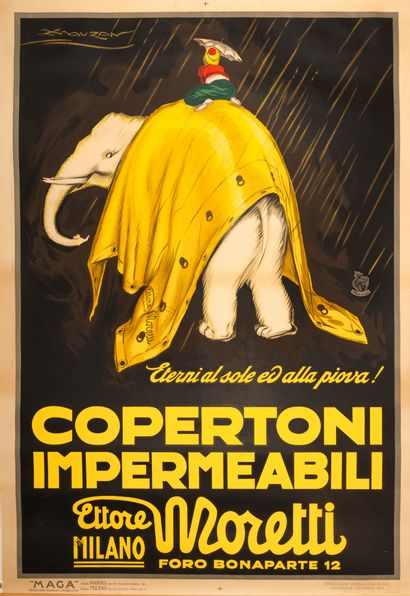 Moretti Copertoni Impermeabili Milano 1921....