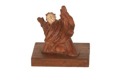 Le Tribun Sculpture en terre cuite à patine...