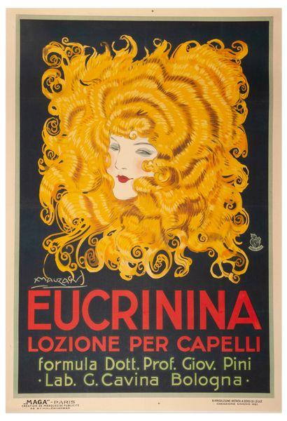 Eucrinina Lozione per capelli. 1921. Affiche...