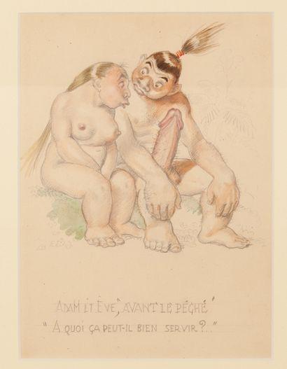 """Adam et Eve """"Avant le Péché"""" et """"A quoi ça..."""