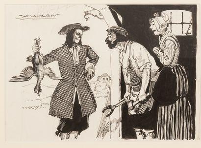 """Le Brigand Cartouche Roi des Coeurs """"Il fit don à ses hôtes d'une poularde grasse""""...."""