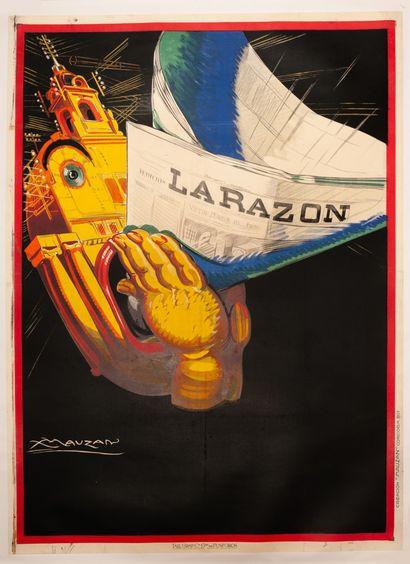 La Razon Buenos Aires 1927. Affiche lithographique....