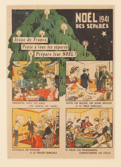Noël 1941 des séparés - Jeune de France,...