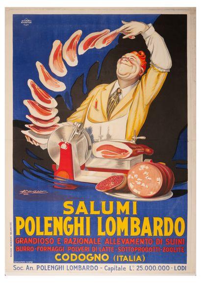 Polenghi Lombardo Salumi Codogno Milano 1926....