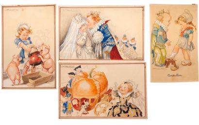 Cartes Postales Les contes de Perrault La...