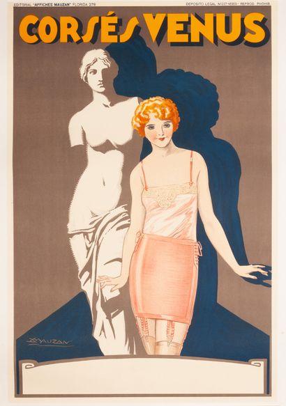 Corsés Venus Buenos Aires 1929. Affiche lithographique....