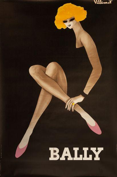 VILLEMOT BERNARD Bally. Femme blonde. 1982. Affiche offset. Imp. I.P.A. Champigny....