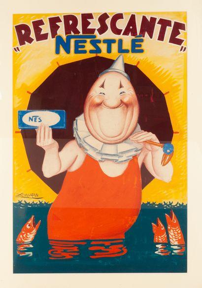 Projet publicitaire Refrescante Nestlé Maquette...