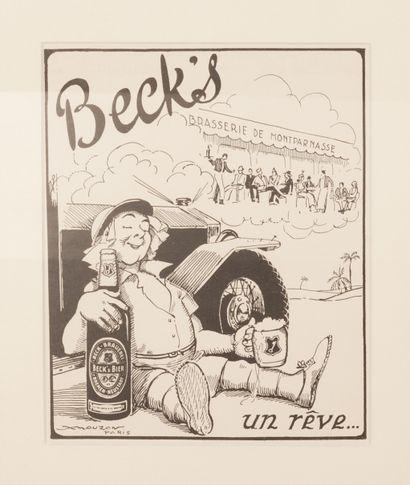 Beck's Un rêve... Circa 1939. Epreuve imprimée...