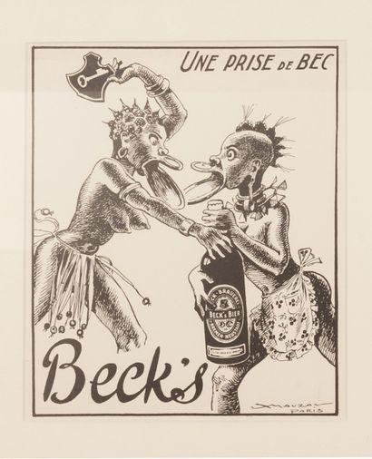 Beck's Une prise de bec... Circa 1939. Epreuve...
