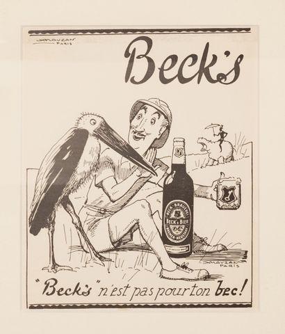 Beck's n'est pas pour ton bec ! Circa 1939....