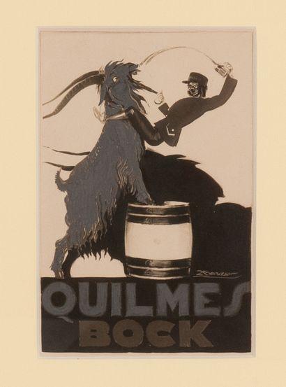 Projet publicitaire pour Quilmes Bock 1927....