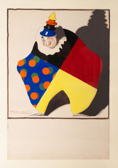 Projet publicitaire pour une teinture Clown...