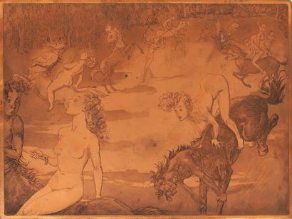 L'Ecole des Maris Plaque de cuivre gravée....