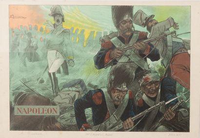 Napoléon Affichette reprenant l'affiche crée...