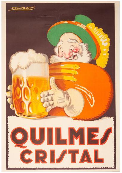 Quilmes Cristal Buenos Aires 1930. Affiche...