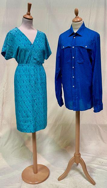Givenchy Boutique  Robe d'après midi bleue...
