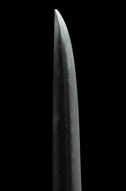 Shinto tanto Milieu Epoque EDO (1603 - 1868) Signé (mei) : Kanekuni saku Lame (sugata)...