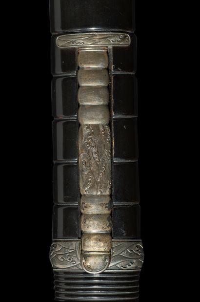 Koto wakizashi Epoque MUROMACHI (1333 - 1573) Signé (mei) : Komei Rai Kunitoshi...